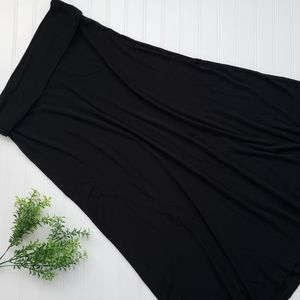 Gap Black Maternity Fold Over Waist Maxi Skirt Med